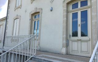 Entrée de la mairie de Lagupie