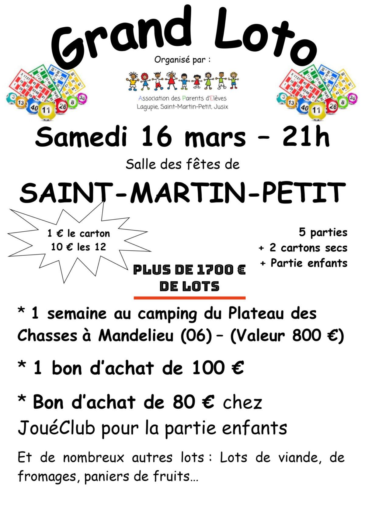 Affiche loto Saint Martin Petit